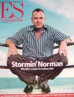 <!--2001-09-14-->Evening Standard magazine - Fatboy Slim cover (14 September 2001)