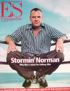 <!--2001-09-14-->Evening Standard magazine - Fatboy Slim cover (14 Septembe