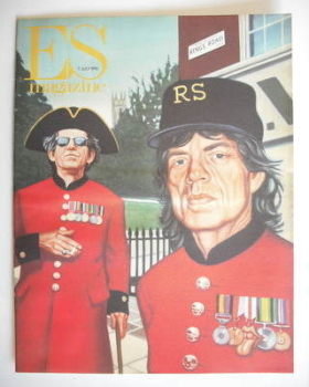 Evening Standard magazine - Mick Jagger and Keith Richards cover (7 July 1995)