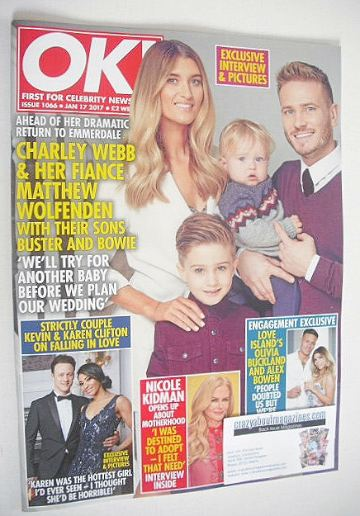 <!--2017-01-17-->OK! magazine - Charley Webb and Family cover (17 January 2