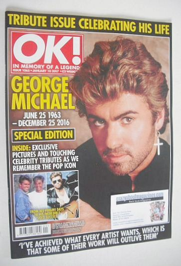 <!--2017-01-10-->OK! magazine - George Michael cover (10 January 2017 - Iss