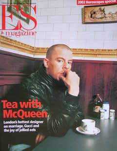 <!--2002-01-04-->Evening Standard magazine - Alexander McQueen cover (4 Jan