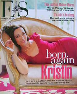 <!--2003-05-30-->Evening Standard magazine - Kristin Scott Thomas cover (30