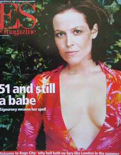<!--2001-08-10-->Evening Standard magazine - Sigourney Weaver cover (10 Aug