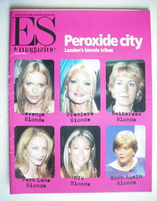 <!--2001-10-19-->Evening Standard magazine - Peroxide City cover (19 Octobe