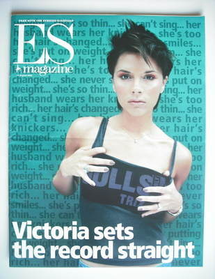 <!--2000-08-18-->Evening Standard magazine - Victoria Beckham cover (18 Aug