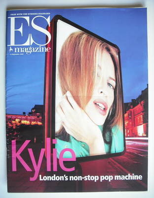 <!--2000-09-15-->Evening Standard magazine - Kylie Minogue cover (15 Septem