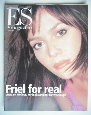 <!--2001-03-02-->Evening Standard magazine - Anna Friel cover (2 March 2001