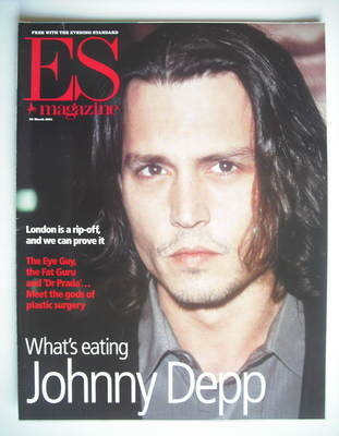 <!--2001-03-23-->Evening Standard magazine - Johnny Depp cover (23 March 20