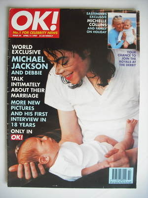 <!--1997-04-11-->OK! magazine - Michael Jackson cover (11 April 1997 - Issu