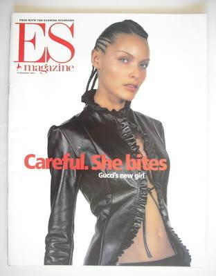 <!--2001-12-14-->Evening Standard magazine - Rie Rasmussen cover (14 Decemb