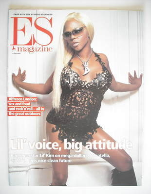 <!--2001-07-06-->Evening Standard magazine - Lil' Kim cover (6 July 2001)