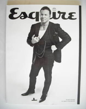 Esquire magazine - Mickey Rourke cover (September 2010 - Subscriber's Issue)