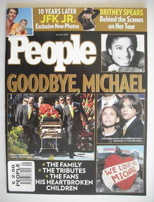 <!--2009-07-20-->People magazine - Goodbye Michael Jackson cover (20 July 2