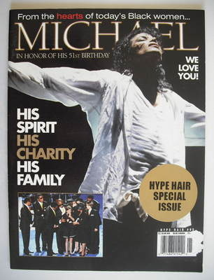 Hype Hair magazine - Michael Jackson cover (Issue 95)