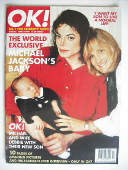 OK! magazine - Michael Jackson and Debbie Rowe and baby cover (4 April 1997 - Issue 53)