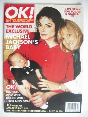 <!--1997-04-04-->OK! magazine - Michael Jackson and Debbie Rowe and baby co