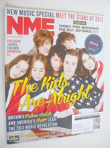 <!--2013-01-05-->NME magazine - Haim and Palma Violets cover (5 January 201