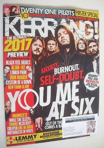 <!--2016-12-31-->Kerrang magazine - You Me At Six cover (31 December 2016 -