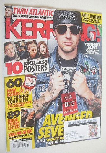 <!--2017-01-07-->Kerrang magazine - Avenged Sevenfold cover (7 January 2017
