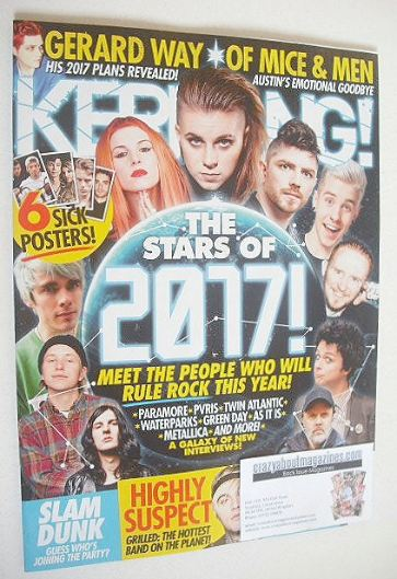 <!--2017-01-14-->Kerrang magazine - Stars of 2017 cover (14 January 2017 -