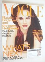 <!--1999-08-->British Vogue magazine - August 1999 - Natalie Portman cover