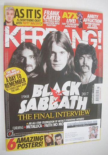 <!--2017-01-21-->Kerrang magazine - Black Sabbath cover (21 January 2017 -
