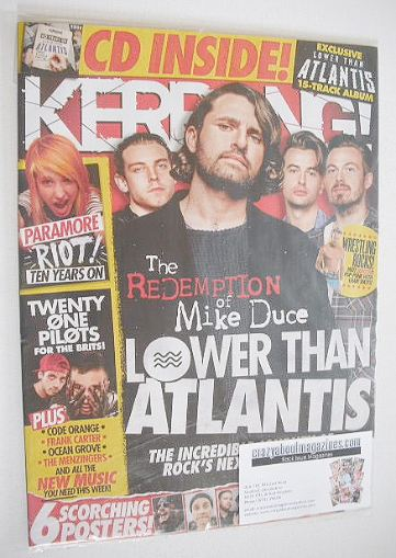 <!--2017-01-28-->Kerrang magazine - Lower Than Atlantis cover (28 January 2