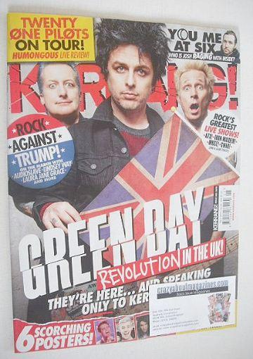 <!--2017-02-04-->Kerrang magazine - Green Day cover (4 February 2017 - Issu