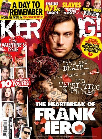 <!--2017-02-11-->Kerrang magazine - Frank Iero cover (11 February 2017 - Is