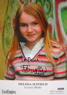 Melissa Suffield autograph (ex EastEnders actor)