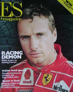 <!--1999-10-29-->Evening Standard magazine - Eddie Irvine cover (29 October