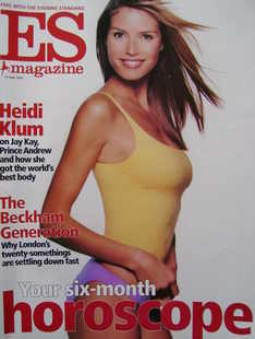 <!--2002-06-14-->Evening Standard magazine - Heidi Klum cover (14 June 2002