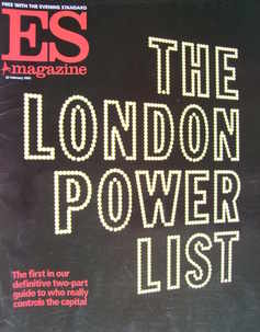 <!--2002-02-22-->Evening Standard magazine - The London Power List cover (2