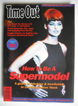 Time Out magazine - Linda Evangelista cover (11-18 March 1992)