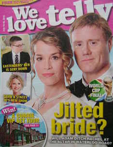 <!--2010-07-10-->We Love Telly magazine - Eva Pope and Steven Waddington cover (10 July 2010)