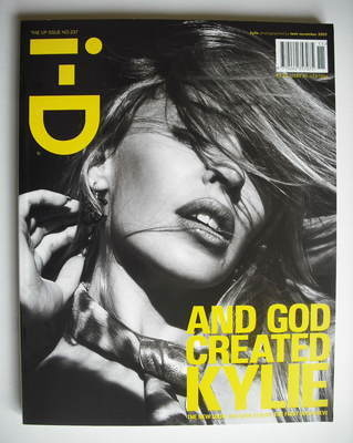 <!--2003-11-->i-D magazine - Kylie Minogue cover (November 2003)