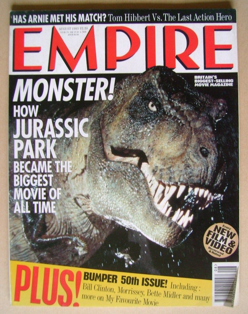 <!--1993-08-->Empire magazine - Jurassic Park cover (August 1993 - Issue 50