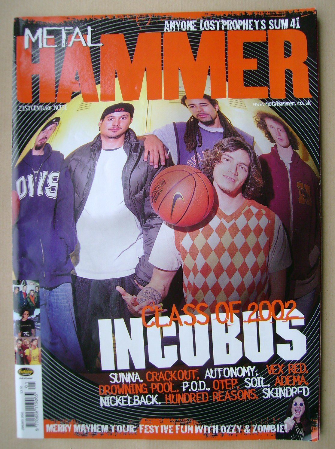 <!--2002-01-->Metal Hammer magazine - Incubus cover (January 2002)