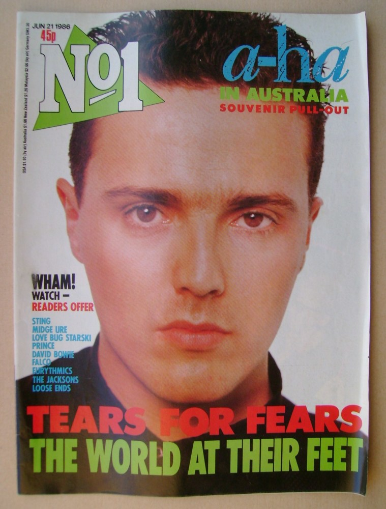 <!--1986-06-21-->No 1 Magazine - Curt Smith cover (21 June 1986)
