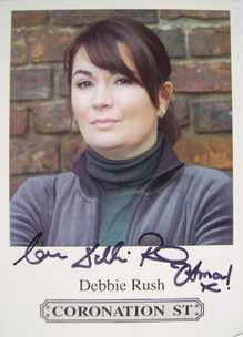 Debbie Rush autograph (hand-signed Anna Windass cast card)