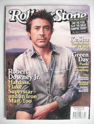 Rolling Stone magazine - Robert Downey Jr cover (13 May 2010)