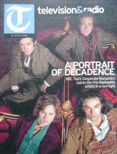 Television&Radio magazine - Desperate Romantics cover (18 July 2009)