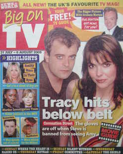 Big On TV magazine - 31 July - 6 August 2005 - Simon Gregson and Kate Ford cover
