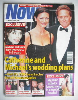 Now magazine - Catherine Zeta Jones and Michael Douglas cover (19 January 2000)