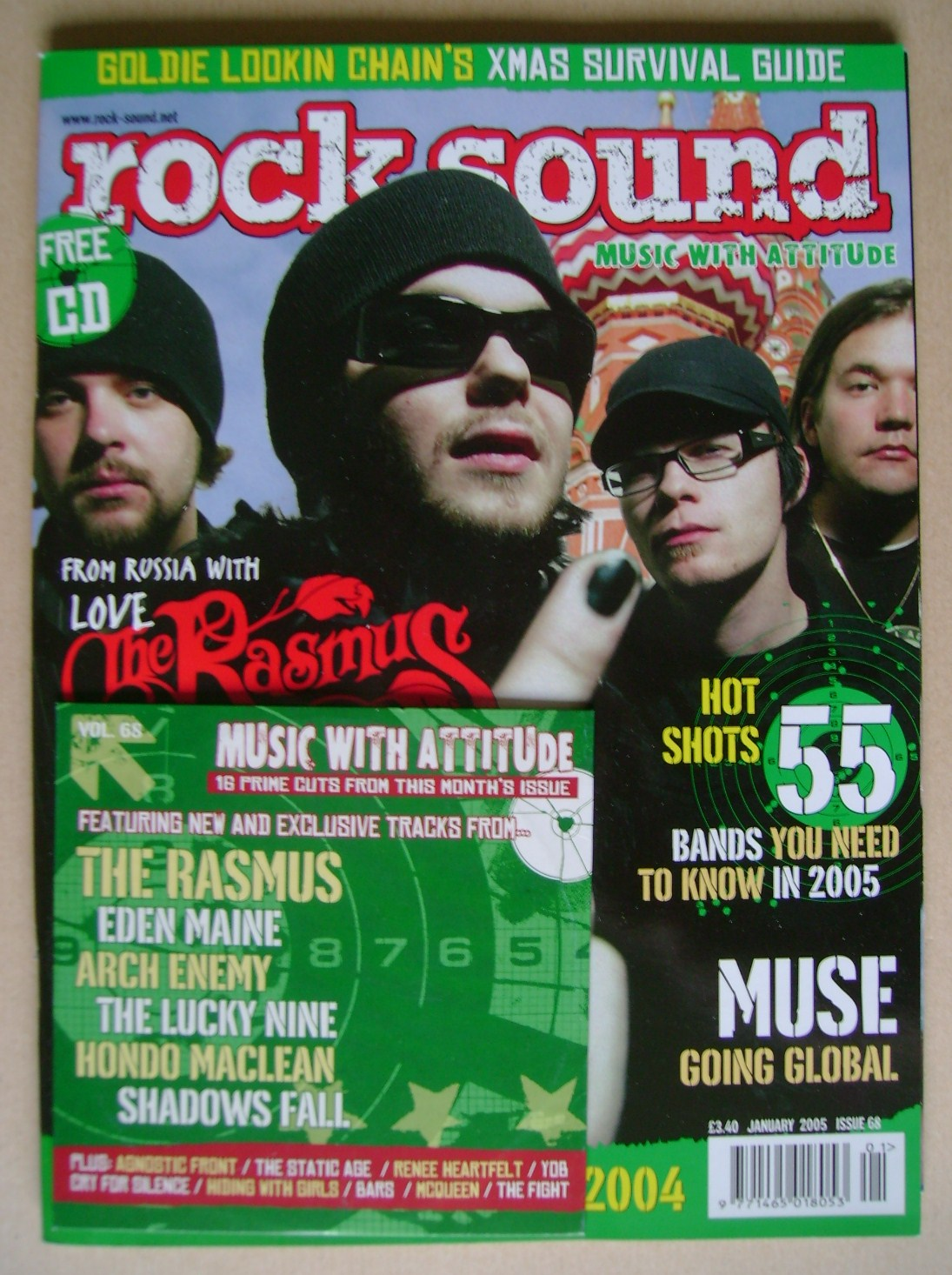 <!--2005-01-->Rock Sound magazine - The Rasmus cover (January 2005)