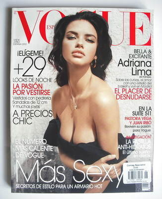 <!--2010-06-->Vogue Espana magazine - June 2010 - Adriana Lima cover