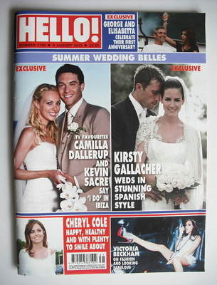 <!--2010-08-09-->Hello! magazine - Summer Wedding Belles cover (9 August 20