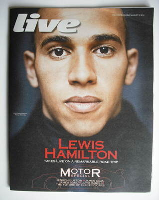 <!--2010-08-22-->Live magazine - Lewis Hamilton cover (22 August 2010)