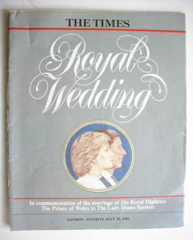 The Times magazine - Royal Wedding magazine (28 July 1981)